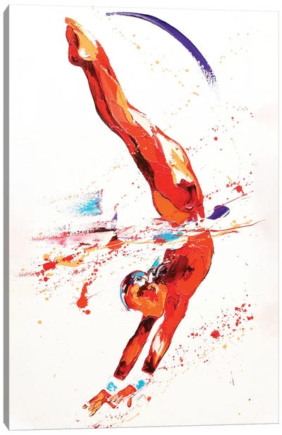 Gymnast Three, 2010 (oil on canvas) Canvas Art Print