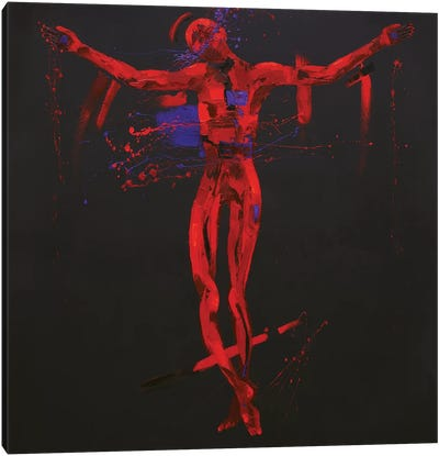 Jesus Dies on the Cross - Station 12 (oil on canvas) Canvas Art Print