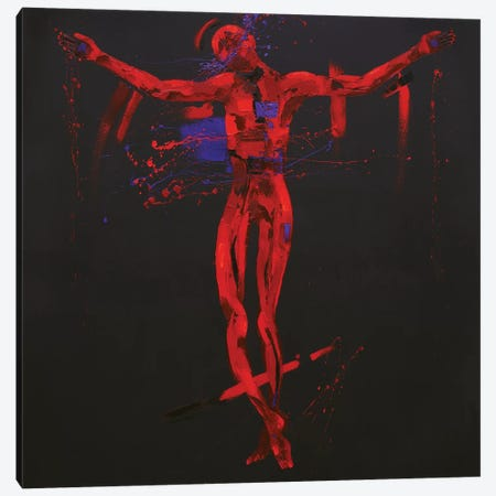 Jesus Dies on the Cross - Station 12 (oil on canvas) Canvas Print #PWA38} by Penny Warden Art Print