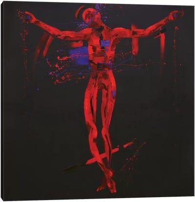 Jesus Dies on the Cross - Station 12 (oil on canvas) Canvas Art Print
