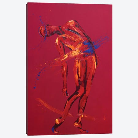 Jesus Falls for the Second Time - Station 7 (oil on canvas) Canvas Print #PWA40} by Penny Warden Canvas Art