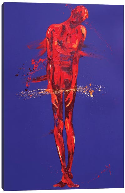 Jesus is Condemned - Station 1 (oil on canvas) Canvas Art Print