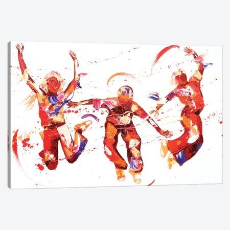 Jump Canvas Print #PWA49} by Penny Warden Canvas Wall Art