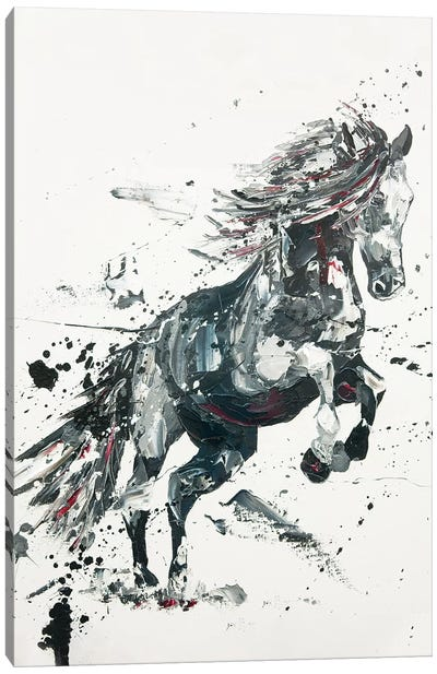 Belicose, 2014 (oil on canvas) Canvas Art Print