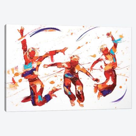 Bounce 3-Piece Canvas #PWA7} by Penny Warden Canvas Art Print