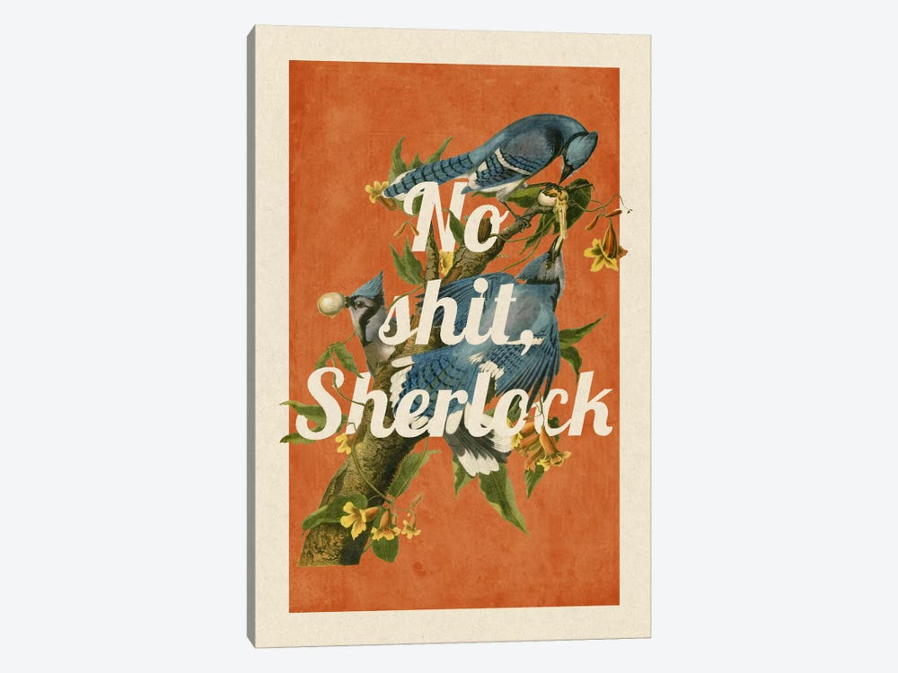 No Shit Sherlock by 5by5collective 1-piece Canvas Art