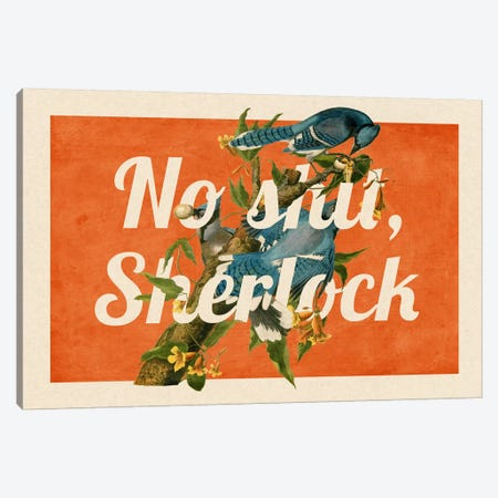 No Shit Sherlock #2 Canvas Print #PWDS11} by 5by5collective Art Print