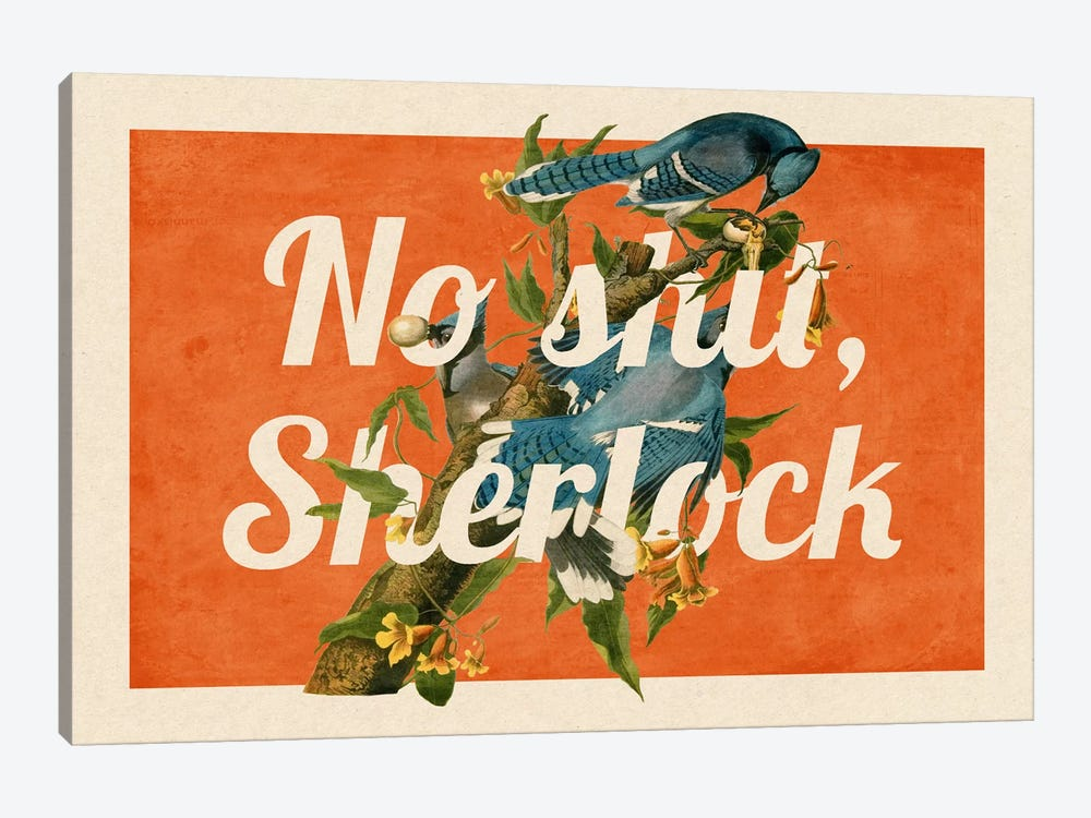 No Shit Sherlock #2 by 5by5collective 1-piece Art Print