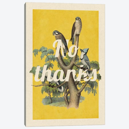 No Thanks Canvas Print #PWDS12} by 5by5collective Canvas Print