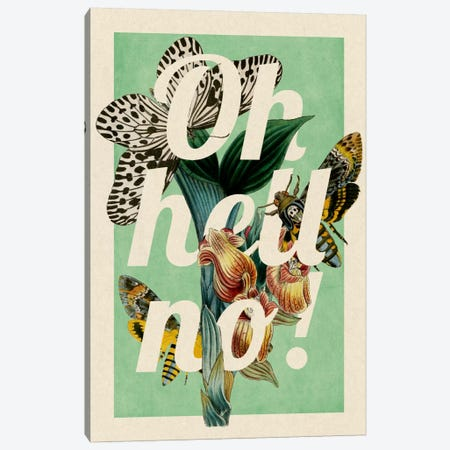 Oh Hell No! Canvas Print #PWDS13} by 5by5collective Canvas Print