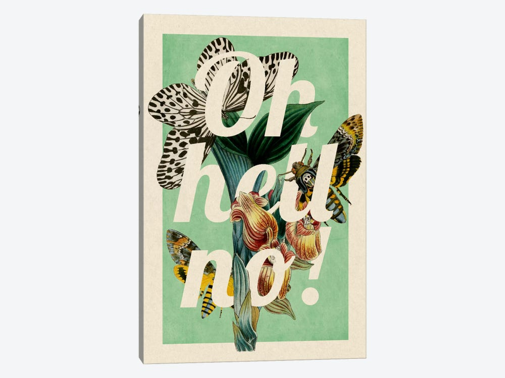 Oh Hell No! by 5by5collective 1-piece Canvas Print