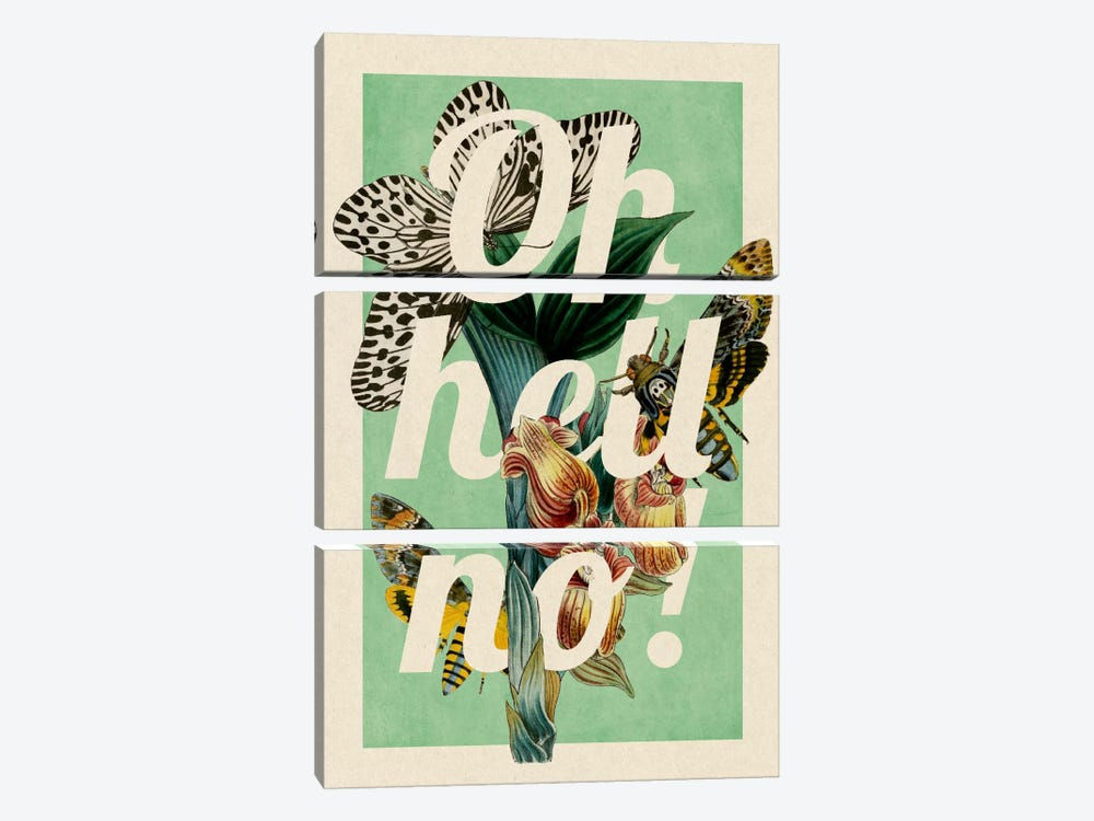 Oh Hell No! by 5by5collective 3-piece Art Print