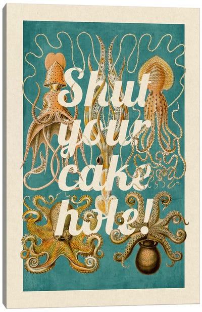 Shut Your Cake Hole Canvas Print #PWDS14