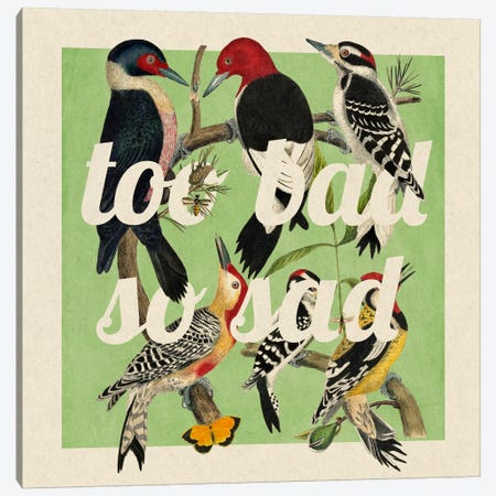 Too Bad So Sad #2 Canvas Print #PWDS16} by 5by5collective Canvas Wall Art