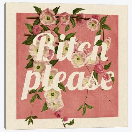 Bitch Please #2 Canvas Print #PWDS2} by 5by5collective Canvas Art Print