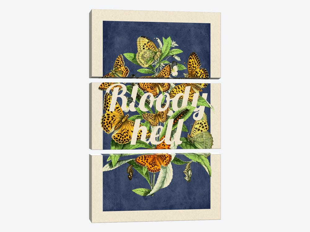 Bloody Hell by 5by5collective 3-piece Canvas Print