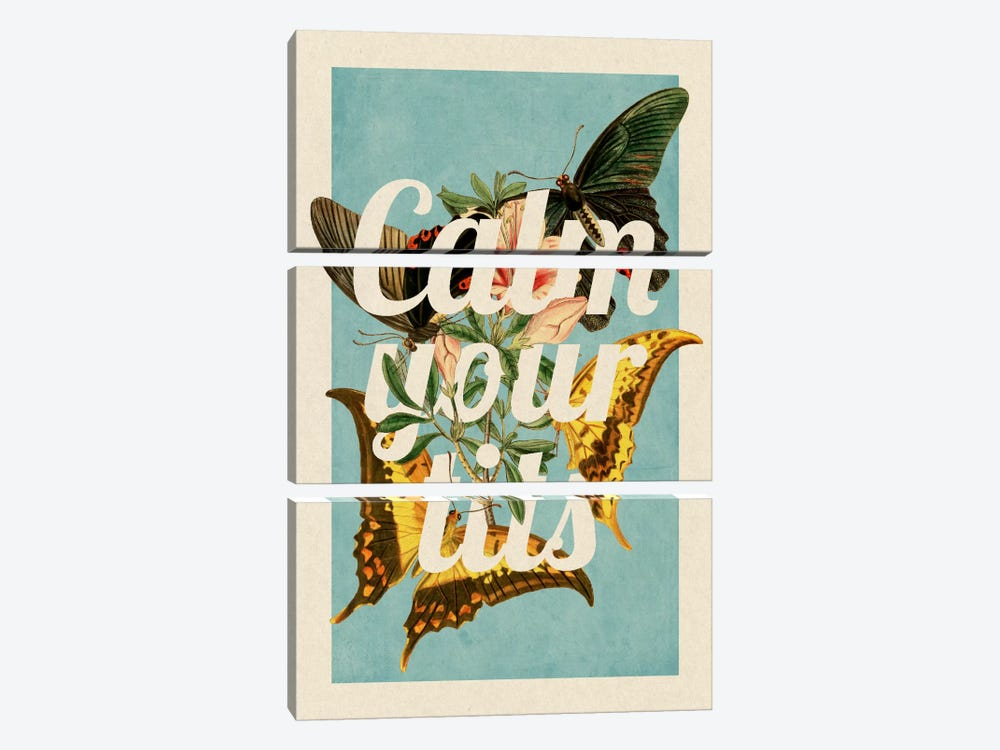 Calm Your Tits by 5by5collective 3-piece Art Print
