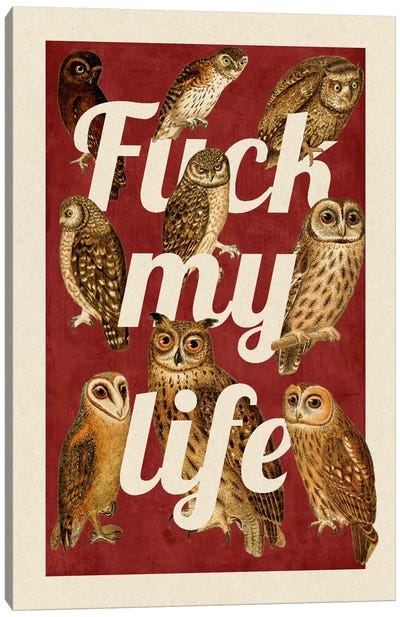 Fuck My Life Canvas Print #PWDS6
