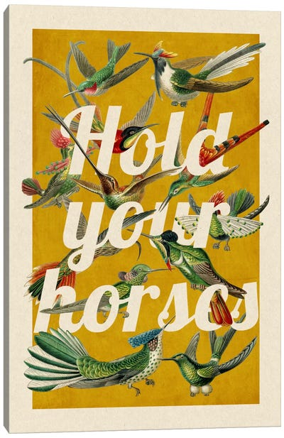 Hold your horses Canvas Art Print