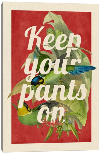 Keep Your Pants On Canvas Art Print