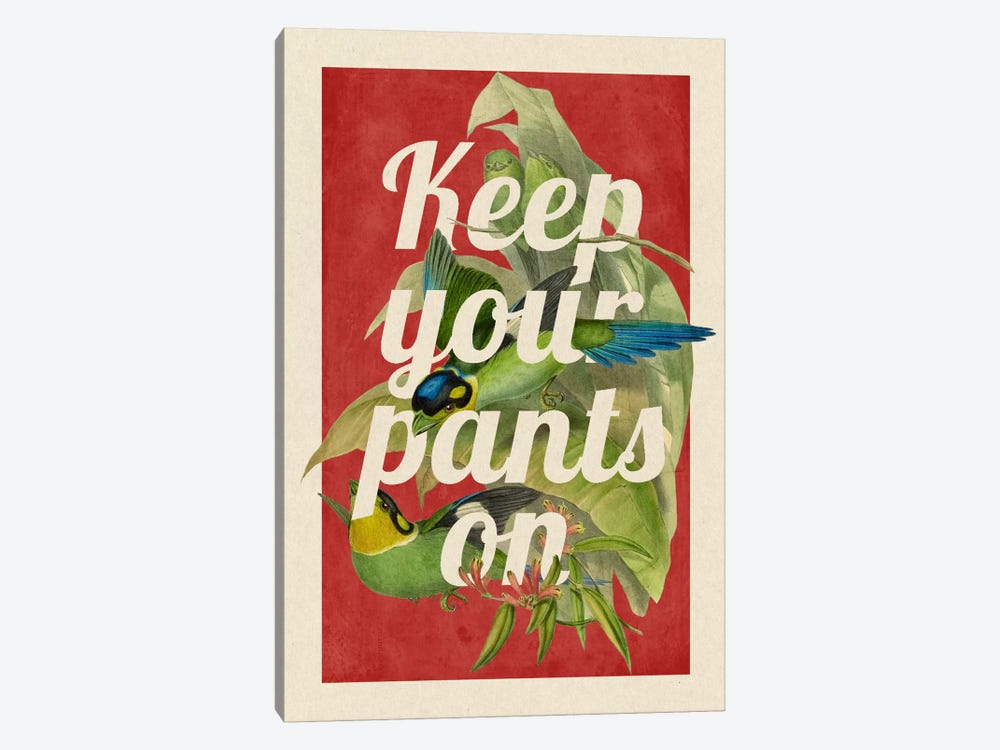 Keep Your Pants On by 5by5collective 1-piece Canvas Art Print