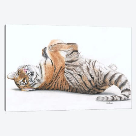 Tiger Feet Canvas Print #PWI122} by Peter Williams Canvas Art Print