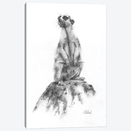 Meerkat Sentinel Canvas Print #PWI156} by Peter Williams Art Print