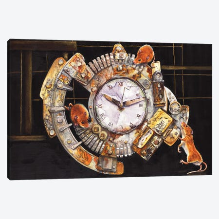 Hickory Dickory Dock Canvas Print #PWI186} by Peter Williams Canvas Artwork