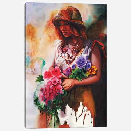 Flower Girl Canvas Print #PWI196} by Peter Williams Canvas Print