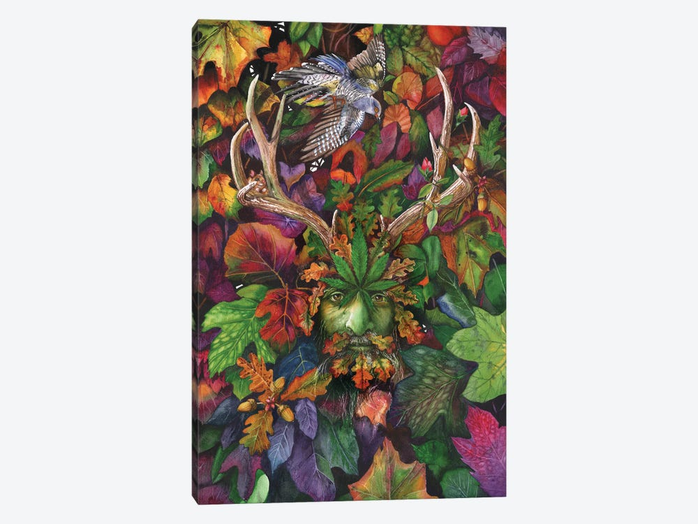 The Green Man II by Peter Williams 1-piece Canvas Print