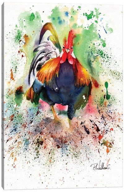 Charging Chicken Canvas Art Print