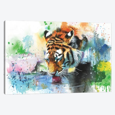 Dousing The Fire Canvas Print #PWI36} by Peter Williams Canvas Wall Art