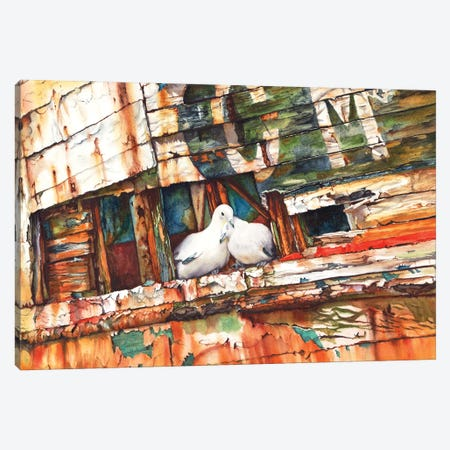 The Dove Boat Canvas Print #PWI37} by Peter Williams Canvas Artwork