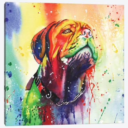 Slobber Chops Canvas Print #PWI48} by Peter Williams Canvas Wall Art