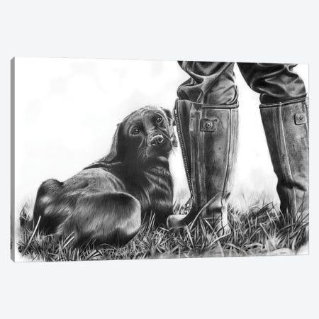 Gun Dog Canvas Print #PWI51} by Peter Williams Canvas Print