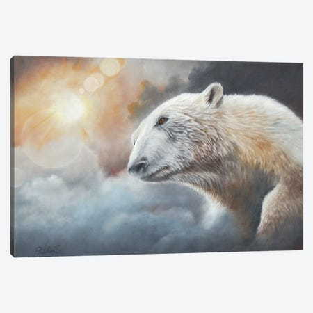 Ice In The Sun Canvas Print #PWI60} by Peter Williams Canvas Wall Art