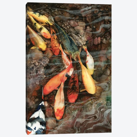 In The Swim Canvas Print #PWI64} by Peter Williams Art Print