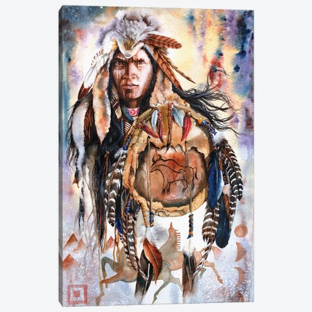 Keeper Of Legends Canvas Print #PWI68} by Peter Williams Canvas Art