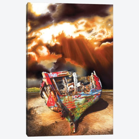 Left For Dead Canvas Print #PWI71} by Peter Williams Canvas Art Print