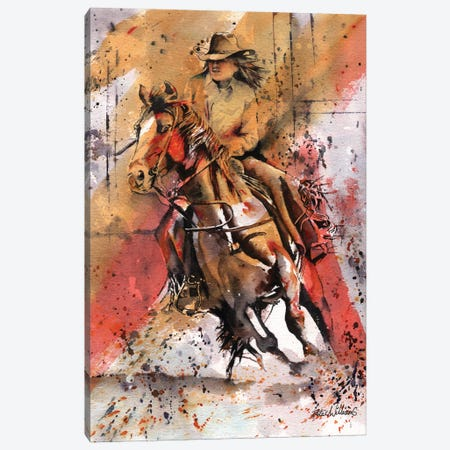 Rodeo Canvas Print #PWI91} by Peter Williams Canvas Art Print
