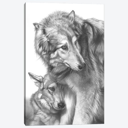 She Wolf Canvas Print #PWI95} by Peter Williams Canvas Wall Art