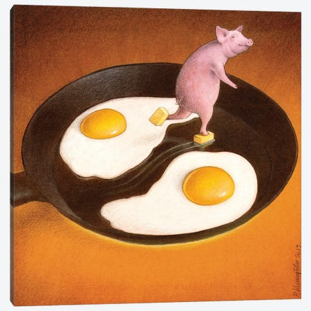 Eggs With Bacon Canvas Print #PWK10} by Pawel Kuczynski Art Print