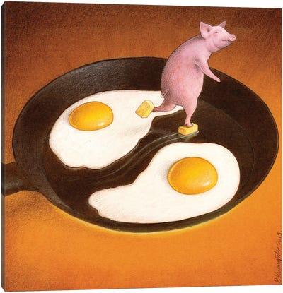 Eggs With Bacon Canvas Art Print