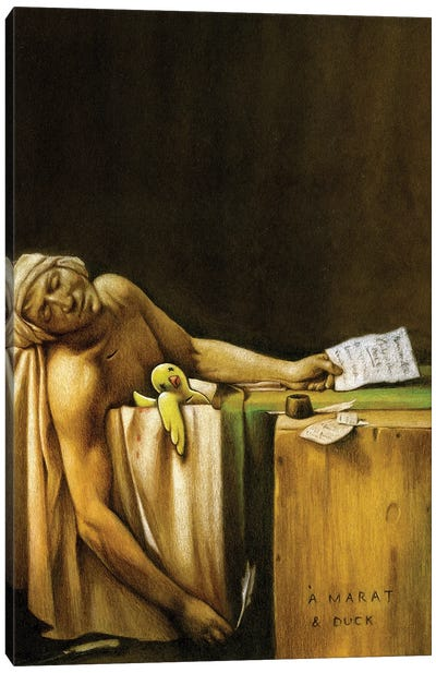 Death Of Marat And Duck Canvas Art Print