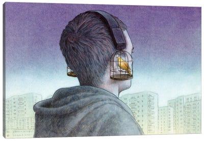 Headphones Canvas Art Print