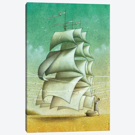 Sails Canvas Print #PWK23} by Pawel Kuczynski Canvas Artwork