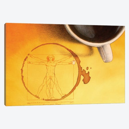 Coffee Man Canvas Print #PWK24} by Pawel Kuczynski Art Print