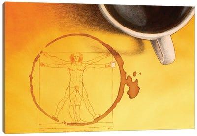 Coffee Man Canvas Art Print
