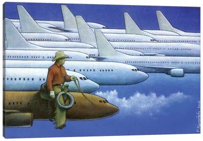 Cowboy Canvas Art Print