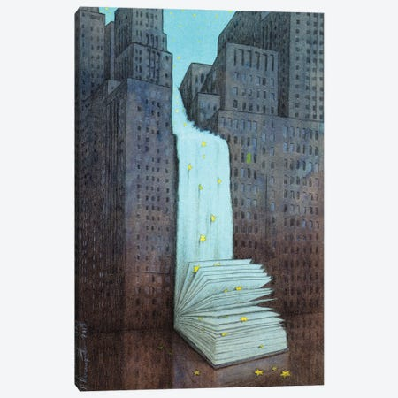 Dream Book Canvas Print #PWK29} by Pawel Kuczynski Canvas Art